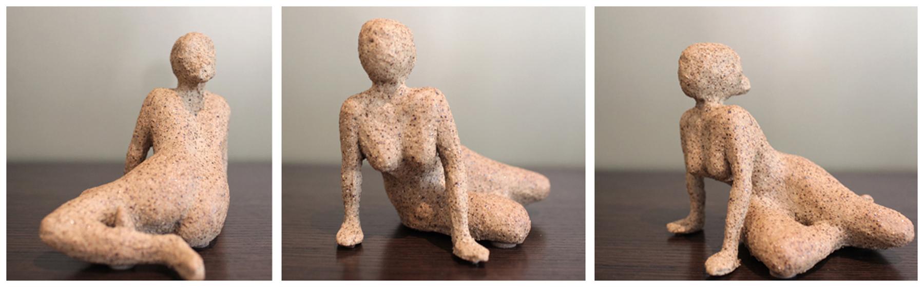 Karen Tabak Artist - Reclining figure no 2. 230w x 160d x 100h. Ceramic clay, fired.
