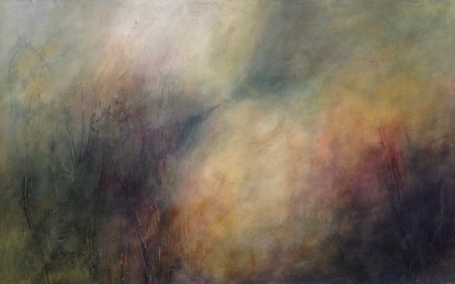 Karen Tabak Artist - The Creation (1500 x 850mm)Acrylic & oil glaze SOLD
