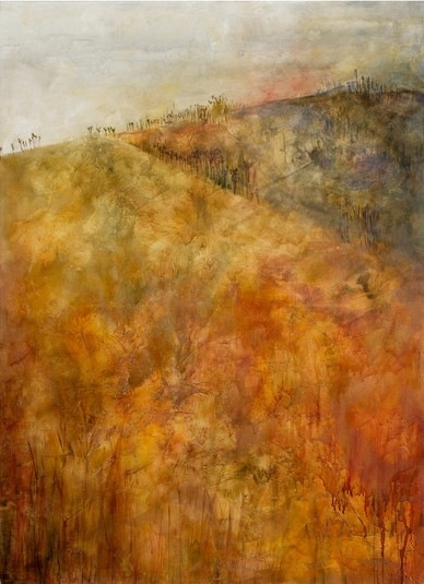 Karen Tabak Artist - Riding The Boundaries (1520 x 1120mm) Acrylic & oil glaze on canvas. SOLD