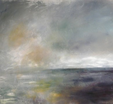 Karen Tabak Artist - Calm Before the Storm (910 x 840mm) Acrylic on canvas. SOLD