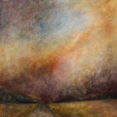 Karen Tabak Artist - Journey (910 x 910mm) Acrylic & oil glaze on canvas.