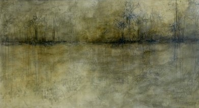 Karen Tabak Artist - Tranquility (840 x 1530mm) Acrylic & oil glaze on canvas. SOLD