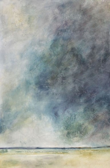 Karen Tabak Artist - Looming Storm (1370 x 910mm) Acrylic & oil glaze on canvas