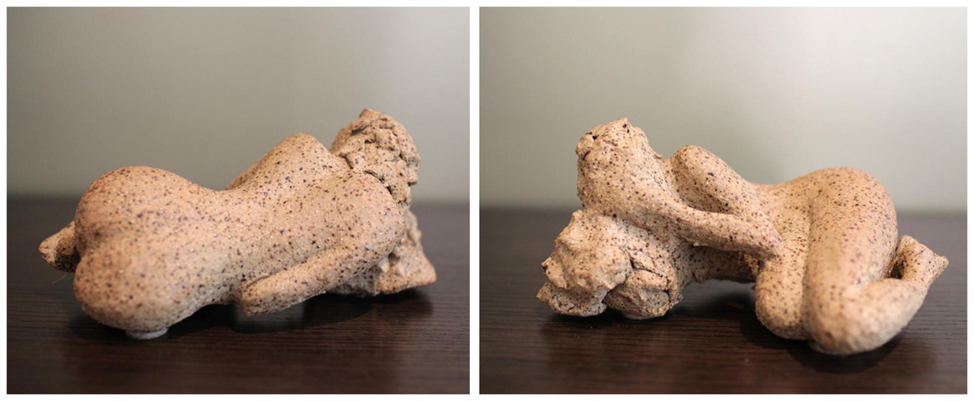 Karen Tabak Artist - Reclining figure no 1. 160w x 220d x 180. Ceramic clay, fired.
