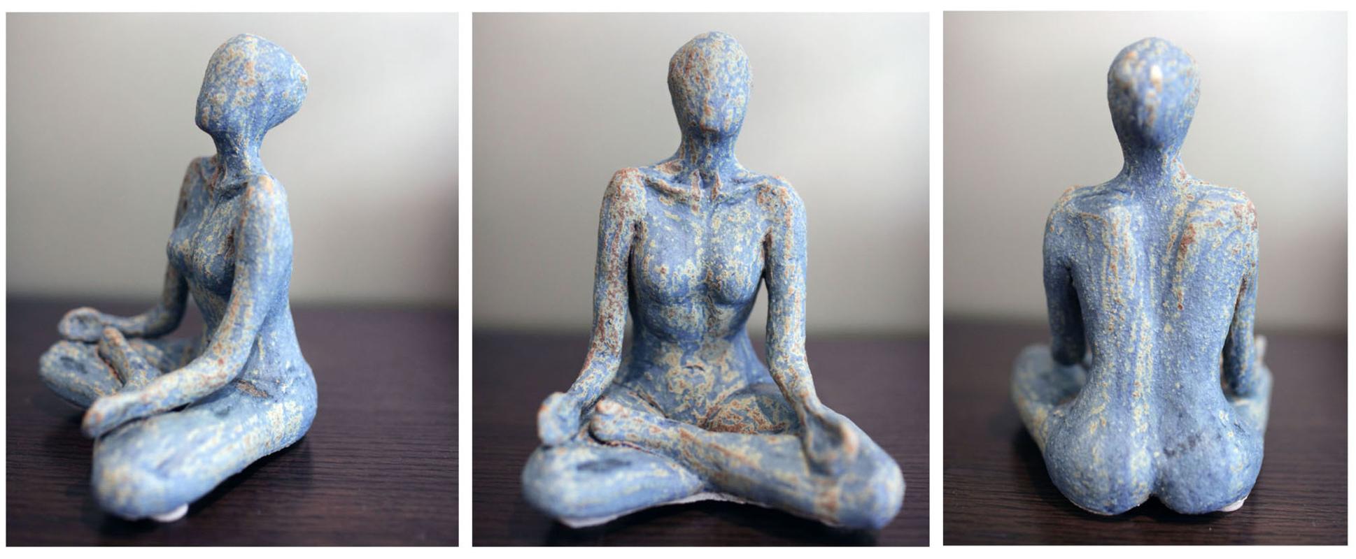 Karen Tabak Artist - Meditation 160w x 140d x 210h. Ceramic clay, fired.