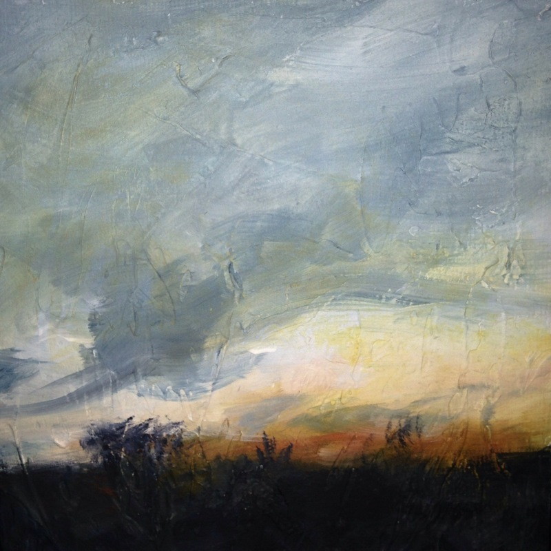 Karen Tabak Artist - Soul Sky #2 (300 x 300mm) Acrylic on canvas. SOLD