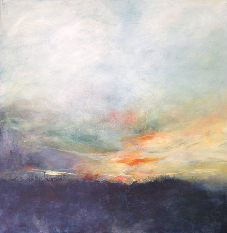 Karen Tabak Artist - My Soul Sky (1220 x 1220mm) Mixed Media on canvas. SOLD