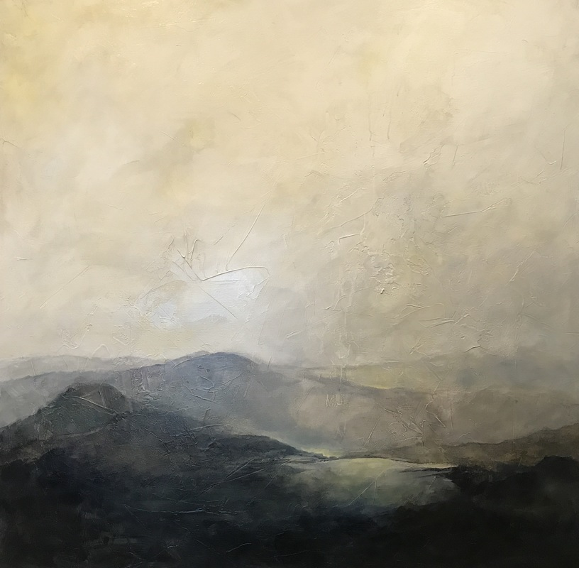 Karen Tabak Artist - First Light (1220 x 1220mm) Acrylic & oil glaze on canvas.