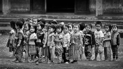 face of vietnam - Schoolchildren in Can Ty, Quan Ba District. Published on the Front Page of 1x.com. Featured in Pentaprisms online Ebook No 5.