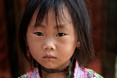 face of vietnam - Hmong girl in Cat Cat Village, Sapa, Lao Cai