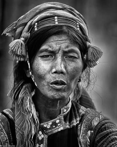 face of vietnam - La Hu ethnic lady in Muong Te Market, Lai Chau