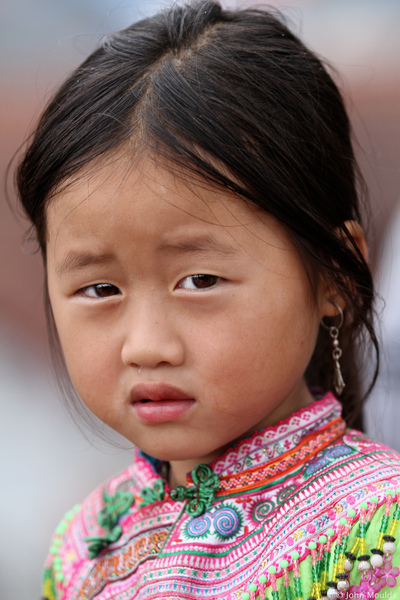 face of vietnam - Flower Mong girl Bac Ha, Lao Cai