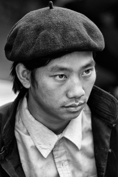 face of vietnam - Man in Dong Van Market, Ha Giang