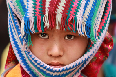 face of vietnam - Ethnic girl in Dong Van Market, Ha Giang
