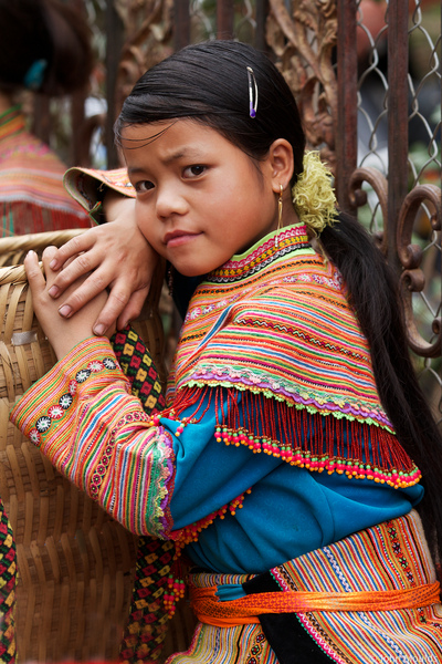 face of vietnam - Girl in Bac Ha Market, Lao Cai