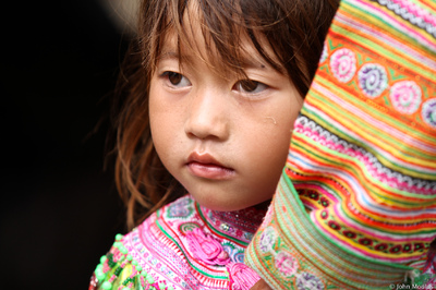 face of vietnam - Flower Mong girl, Bac Ha Market, Lao Cai