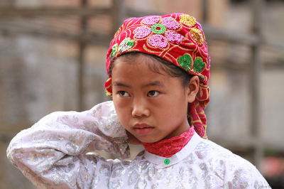 face of vietnam - Girl in Dong Van Market, Ha Giang