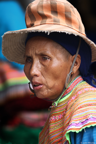 face of vietnam - Two hat lady, Bac Ha Market, Lao Cai