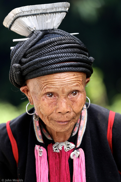face of vietnam - Dao Dau Bang lady in traditional dress in Giang Ma Village, Lai Chau