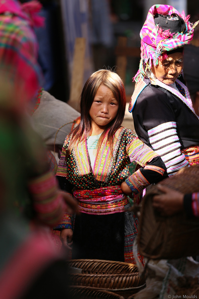 face of vietnam - White Hong girl, Sin Ho Market, Lai Chau