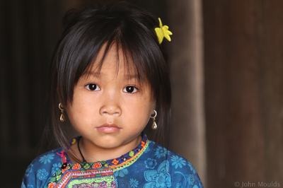 face of vietnam - Flower Hmong girl in Ta Thang Townlete, Sin Ho District