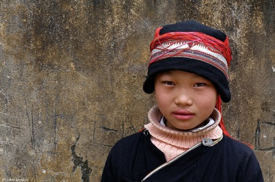 face of vietnam - Red Dao girl, Nam Dam Village, Ha Giang