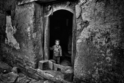 face of vietnam - Alone boy in Lai Chau 1 Village, Lao Cai