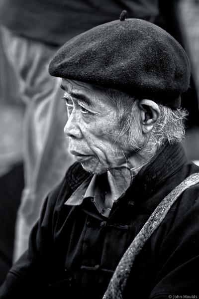 face of vietnam - Man selling vegetables in Dong Van Market, Ha Giang