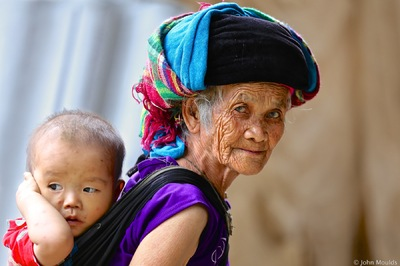 face of vietnam - Old lady in Lung Tam Village, Quan Ba District Ha Giang., Editors Choice on Artfreelife.com.