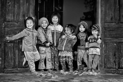face of vietnam - Happy Days from Chu Thuong Preschool, Ha Giang Province. Featured on the front page of fotoblur.com
