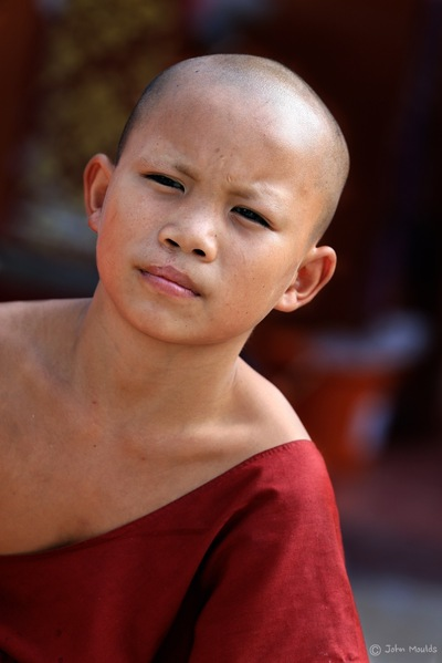 face of vietnam - Young Novice Monk in Wat Sing Khau Temple, Muang La