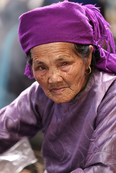 face of vietnam - Lady in Muong Hum Market, Lao Cai