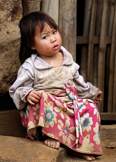 face of vietnam - Ha Nhi child in Ho Nhi Village, A Mu Sung, Lao Cai District
