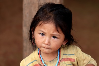 face of vietnam - Akha Pixor girl in Phong Sa Ly