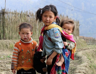 face of vietnam - Children in Sapa