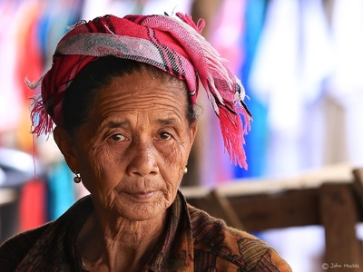 face of vietnam - Akha Pixor lady in Phong Sa Ly