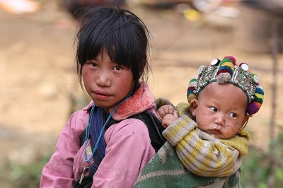 face of vietnam - Ha Nhi children in Muong So Village, Y Ty...