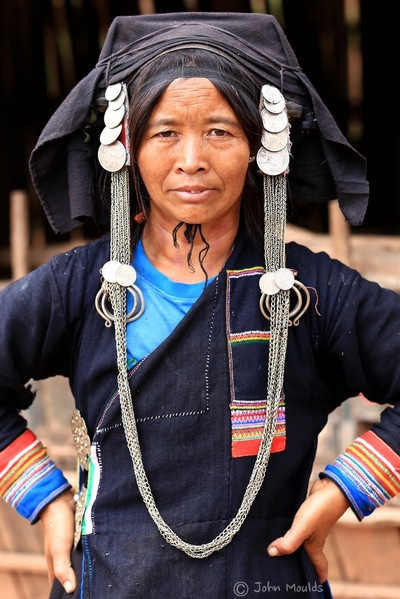 face of vietnam - Akha Pixor lady in Phong Sa Ly District, Northern Laos.