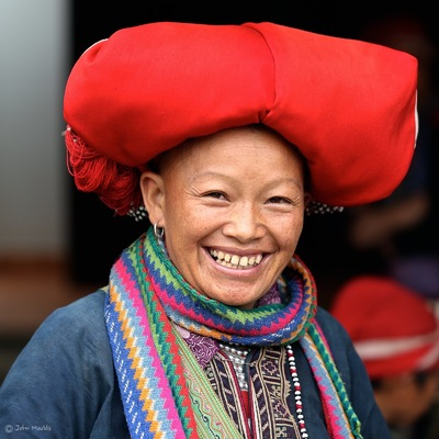 face of vietnam - Red Dao lady in Ta Phin Village, Sapa