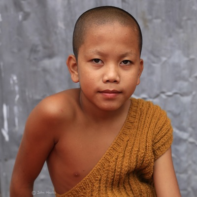 face of vietnam - Novice Monk in Ban Phak Hom, Luang Prabang