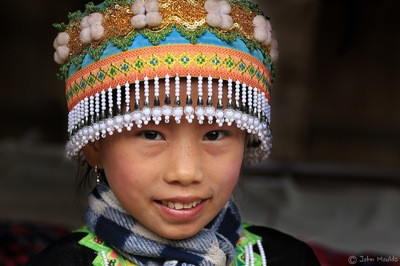 face of vietnam - HMong girl in Ban Na Uon in Luang Prabang