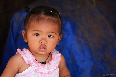 face of vietnam - Khmer baby in Ban Vang Vanh