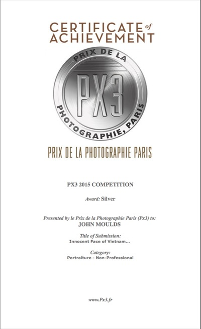 face of vietnam - Award PX3, Silver Medal 2015, Paris.
