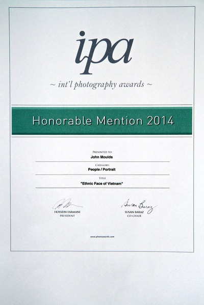 face of vietnam - My Honourable Mention Certificate from the International Photography Awards Contest 2014