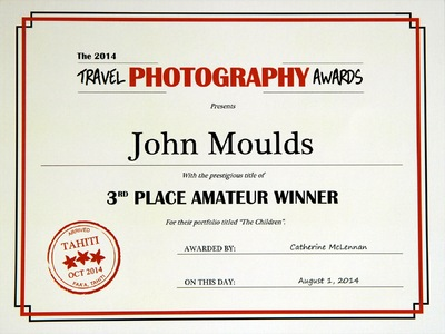 face of vietnam - My Award Certificate for 3rd place in the 2014 Travel Photography Awards Contest