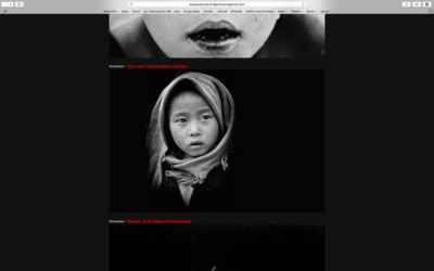 face of vietnam - Ma Le girl entered in the Black & White Child Photo Awards 2014 was a Nominee in the final selections.