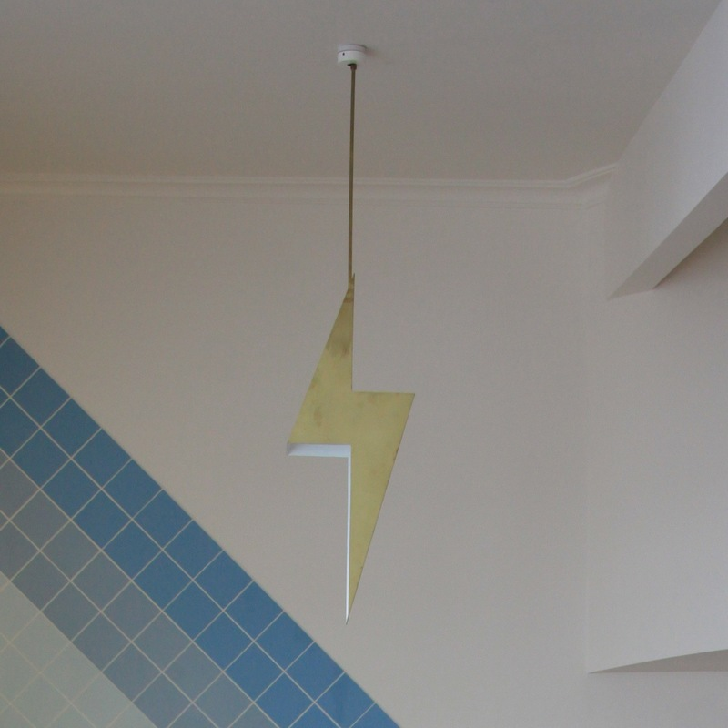 Danielle Brustman - Design - Salty Dog Hotel, 2016 Lightning Bolt Light Design - Danielle Brustman Made by earl Pinto