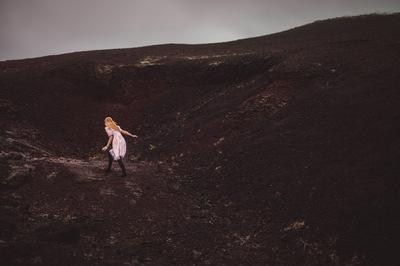 Broken Sundowns - Volcanic rock in Myvatn, Iceland.
