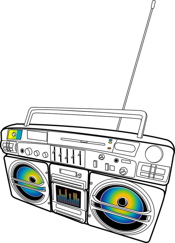 Resan - Ghetto Blaster - T-Shirt design (Illustrator)