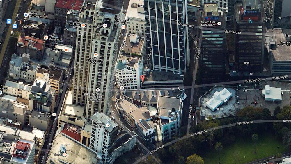 Cameron Rey - Map of Cruise Lane, Auckland CBD, 1010.